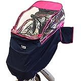 ハローエンジェル チャイルドシート付き自転車用レインカバー ザオープン 前子供座席用・前面用 (ピンク)