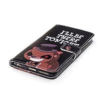 iPhone6 Plus iPhone6S Plus ケース 手帳型 スタンド機能 カードポッケト ストラップ付き【VINIGO】かわいい クマ 英字柄 PUレザー 人気 おしゃれ 落下防止 衝撃吸収 財布型 おすすめ ケース カバー スタイリッシュ   (iPhone6 Plus/6S Plus, 9)