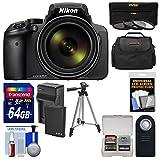 Nikon Coolpix p900Wi - Fi 83x Zoomデジタルカメラ+ 64GBカード+バッテリー&充電器+ 3フィルタ+ケース+三脚キット(認定Refurbished )