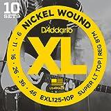 D'Addario ダダリオ エレキギター弦 ニッケル SuperLight Top/Regular Bottom .009-.046 EXL125-10P 10set入りパック 【国内正規品】