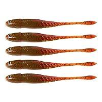 LIXADA 5PCS 釣り用ルアー フィッシュルアー 釣り餌 プラスチック 3D目