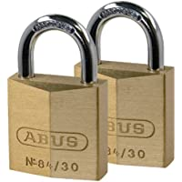 ABUS 84 / 30 C / Fのペアソリッド真鍮南京錠with硬化鋼Shackles 30 mm