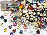 (v8)スワロフスキー Vカット チャトン カラー&サイズミックス Sサイズ(PP21-27) 10粒