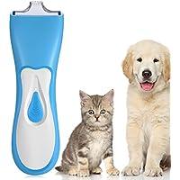 BlueFire ペット バリカン 犬猫 ペット クリッパー 充電式 コードレス プロ用 低騒音 低振動 高精度 水洗い可 足裏 ペット用シェーバー ミニブレード 家庭用 業務用 ヘアトリミング 自宅で 簡単 グルーミング トリマー