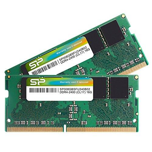 シリコンパワー ノートPC用メモリ DDR4-2400(PC4-19200) 260Pin 1.2V CL17 SP016GBSFU240B22 B06XP1ZN6H 1枚目