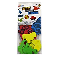 Foam Craft Eva Stickers - Toys Theme - Lots of Colours, Sizes and Scene Shapes
