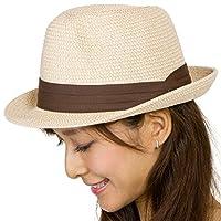 麦わら帽子 折りたたみ メンズ レディース MIXペーパー ポケッタブル ハット LL10.イエロー杢