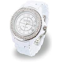 [ABISTE]アビステ 【マケプレお急ぎ便対応】 ラウンドフェイスキラキラベルト時計 Sホワイト 9600082S