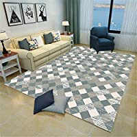 竹 ラグ ストライプ ラグマット 60x90cm 現代のシンプルさ 長方形 単純正Nordic 3D幾何学模様スクエアマットリビングルームオフィスベッドルームフルカーペット 1畳 ラグ