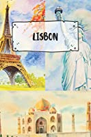 Lisbon: Ruled Travel Diary Notebook or Journey  Journal - Lined Trip Pocketbook for Men and Women with Lines
