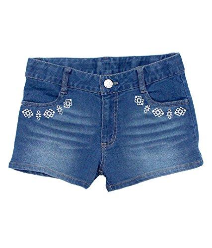 ANAP GiRL ネイティブ刺繍デニムショートパンツ ブルー S