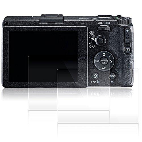 Ricoh GRII 専用 ガラスフィルム AFUNTA 液晶保護フィルム リコー GR II カメラ 用 液晶フィルム 9H高硬度 極薄 防塵 2枚入り