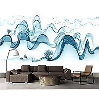 Ljjlm カスタム壁画壁紙Hd品質透明曲線現代の抽象的な木鹿風景画写真3Dの壁紙-200X140CM