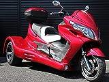 IceBear(アイスベアー) トライク 250cc水冷エンジンバック付 三輪バイク 大型スクータートライク ワインレッド HL250SR