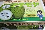お歳暮ギフト用 化粧箱 沖縄県産フルーツ 秀品 アテモヤ約2kg
