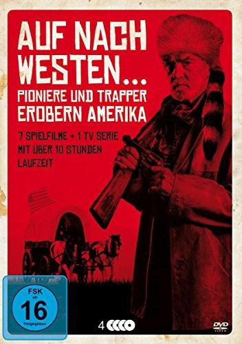 Auf nach Westen: Pioniere und Trapper erobern Amerika. 7 Spielfilme: Der letzte Mohikaner - Daniel Boone - Buffalo Bill - Lederstrumpf - US Marshall John - Fäuste,Colts und Totengräber [DVD]