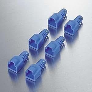 ELECOM LD-EBBU6 コネクタ保護カバー ブルー