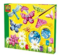 SES Creative Butterfly Glitter Plaster Casting and Painting Kit by SES Creative [並行輸入品]