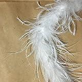 オーストリッチ・羽毛(七面鳥)テープ ふわふわ 全三色 長さ 1.8m 手芸・裁縫・装飾用素材
