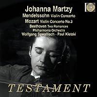 Mendelssohn: Violin Concerto; Mozart: Violin Concerto No.3; Beethoven: Romances Nos.1 & 2 by Johanna Martzy (2012-11-29)