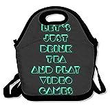 お弁当バッグ おやすみ お茶 プレイ ビデオゲーム 大人気 お弁当グッズ 保冷 保温 持ち運びに便利 OL