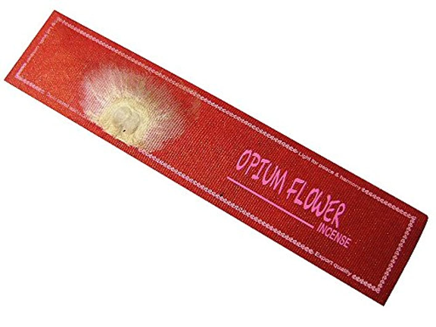 口ひげ祖母不安NEPAL INCENSE ネパールのロクタ紙にヒマラヤの押し花のお香【OPIUM FLOWERオピウムフラワー】 スティック