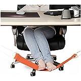 cooayz dyz Adjustable Portable Hanging Feet Hammock for Feet Rest Under the Desk(Orange)