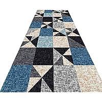 YANAN コリドーカーペット ヨーロッパ人 三角形の模様 ランナーラグ 廊下 キッチン リビングルーム 滑り止め 吸水 ドアマット 厚さ0.7cm カスタマイズ可能 (色 : B, サイズ さいず : 0.6×1m)
