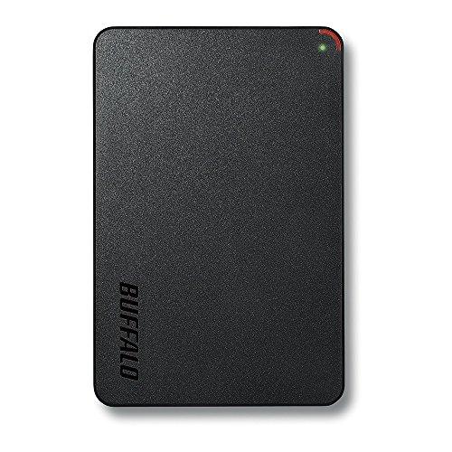 BUFFALO 2.5インチ(ポータブル) 外付けHDD 500GB ブラック HD-PCF500U3-BE