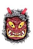 鬼 赤鬼 青鬼 天狗 般若 お面 仮装 仮面 キャラ マスク お祭り パーティー フェイスマスク (赤鬼面(ひげ付き))