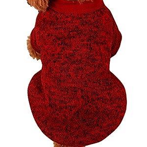 犬服 ニートセーター Glennoky プルオーバー 無地 部屋着 寝間着 7色選べる S M L XL XXL 犬用 わんこ服 ワンチャン ワンちゃん 柔らかい 可愛い 小型犬 中型犬 大型犬 ドッグウェア ミニオン風 ペット服 猫服 散歩 ふわふわ モコモコ