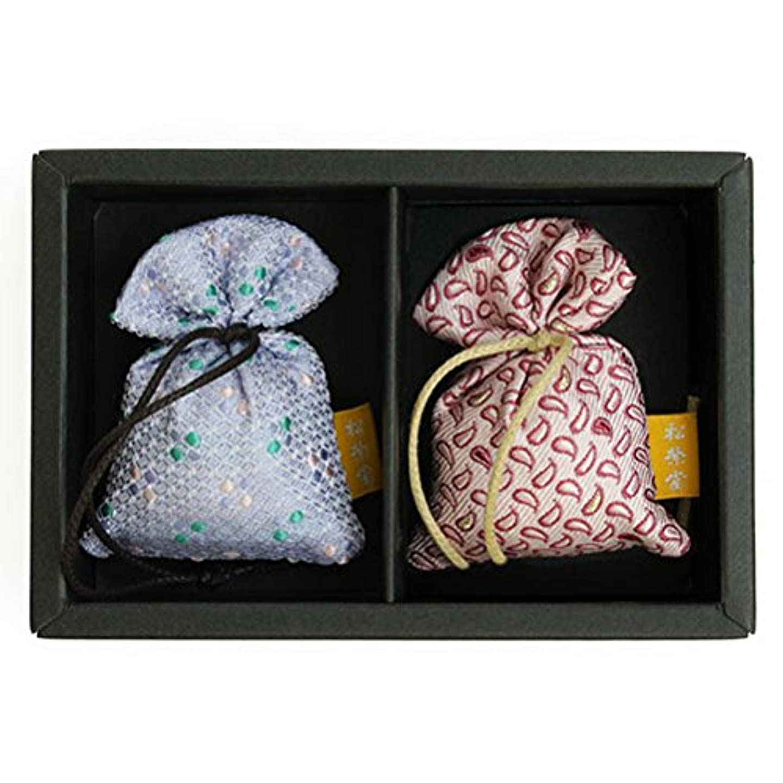 気味の悪い寸前承認する匂い袋 誰が袖 薫 かおる 2個入 松栄堂 Shoyeido 本体長さ60mm (色?柄は選べません)