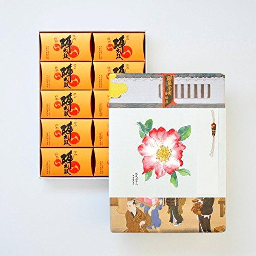 お菓子の香梅 特製誉の陣太鼓20個入 スイーツ 807g 肥後六花オリジナルのし紙 【肥後山茶花】