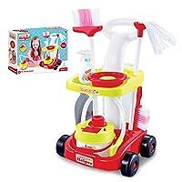 お掃除セット トロリー玩具のクリーニング ポータブル・トローリー 、知育玩具 子供の教育用おもちゃ 親子遊び 楽しくそうじしましょう!