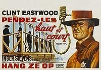 HANG EM HIGH –クリントイーストウッド–ベルギーから輸入された映画の壁ポスター印刷– 30CM X 43CM