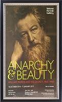ポスター フレデリック ホリーアー Anarchy & Beauty ウィリアム・モリス 額装品 マッキアフレーム-S(ブラックシルバー)