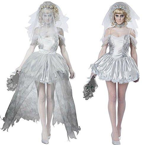 《Princess★MARRON》プリンセス・マロン ハロウィン クリスマス コスプレ 衣装 コスチューム 仮装  悪魔の花嫁 ウェディングドレス グレー 魔女 巫女 ゾンビ 花嫁