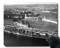 ステッチエッジ付きマウスパッド、軍用HMSアークロイヤル(R09)軍艦滑り止めラバーマウスパッド
