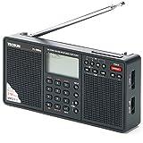 TECSUN PL-398MP デジタルDSP短波ラジオ 左右ステレオスピーカー SDカードスロット MP3再生 ポータブルBCL受信機 FMステレオ/LW/MW/SW ワールドバンドレシーバー 550局プリセットメモリー 外部オーディオ入力 USB給電 ATSオートプリセット スリープタイマー アラーム 高音質大口径スピーカー (ブラック)