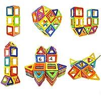 Coodoo マグネットブロック STEM教育玩具 マグネットのビルディングブロックタイルセット 男の子&女の子用 64ピース