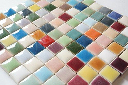 モザイクタイル 10㎜角 セラミック(陶器) 20色 カラフル かわいい マルチカラー ミックス クラフト ハンド...