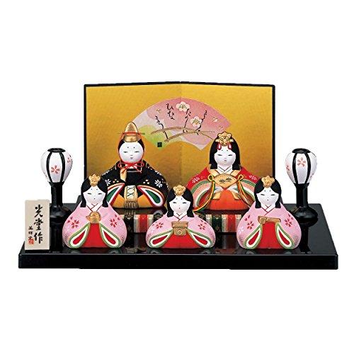 桃の節句 ひな人形 錦彩 華みやび 雛(平飾り) 2450...