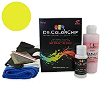 Dr。ColorChip Mercury Capri 11Automobileペイント Squirt-n-Squeegee Kit イエロー DRCC-738-10291-0001-SNS