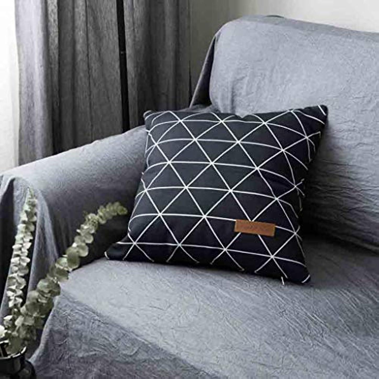 光疲労タービンLIUXIN クリエイティブ枕、幾何学的なクッション、ホームキャンバス装飾的なソファ抱擁枕カバーマルチカラーオプション45 cm×45 cm ソファ枕 (パターン : A)