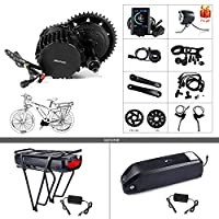 Bafang bbshd bbs03 48ボルト1000ワットミッドモーターバイク変換キットt46チェーンリングホイール液晶ディスプレイDPC18 Eletricバイクモーターキット