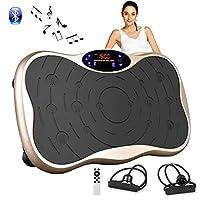振動マシン フィットネスマシン 振動ステッパー スマート 振動調節 99段階 脂肪燃焼 全身振動 体幹強化 マシンBluetooth 音楽機能 PSE認証済 (ゴールド-2)