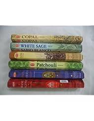 裾Copal、ホワイトセージ、クローブ、パチュリ、Frankincense Myrrh Incense 120 Sticksロット
