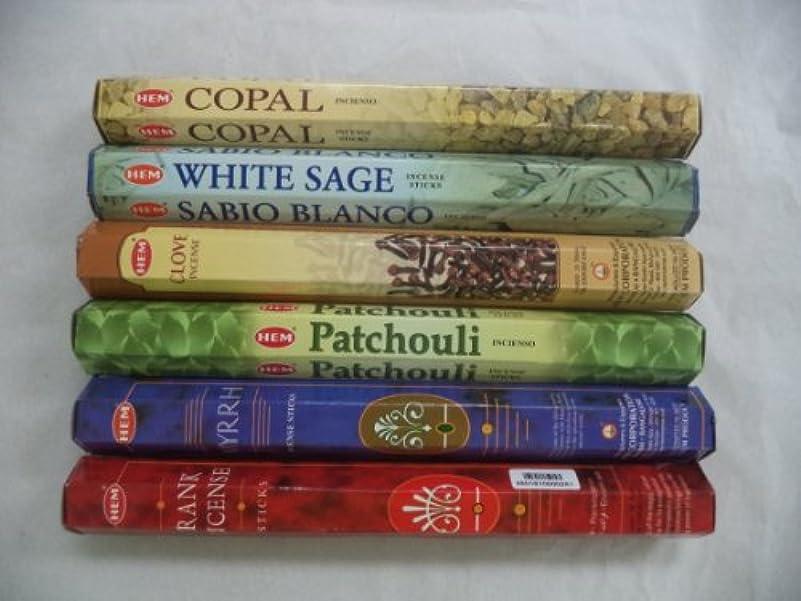 休戦粘着性警察裾Copal、ホワイトセージ、クローブ、パチュリ、Frankincense Myrrh Incense 120 Sticksロット