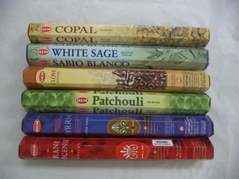 テント倫理的白菜裾Copal、ホワイトセージ、クローブ、パチュリ、Frankincense Myrrh Incense 120 Sticksロット