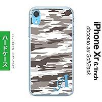 iPhone XR(アイフォーン XR) スマホケース カバー ハードケース 迷彩B グレーB イニシャル対応 I nk-ipxr-1161ini-i